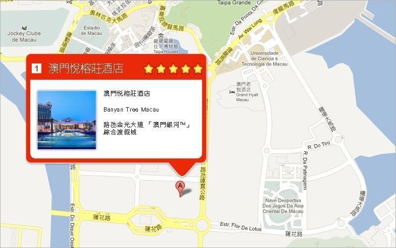 显示酒店地图