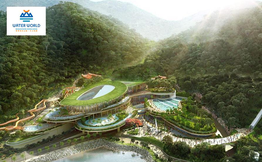 翠綠環山與南中國海相接,向獨特地貌致敬的水上樂園建築構思