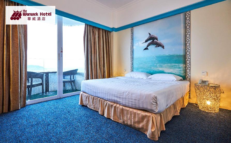 海景露台大床房<br>寬敞乾淨的大床、柔軟的枕頭,配帶私人海景露台