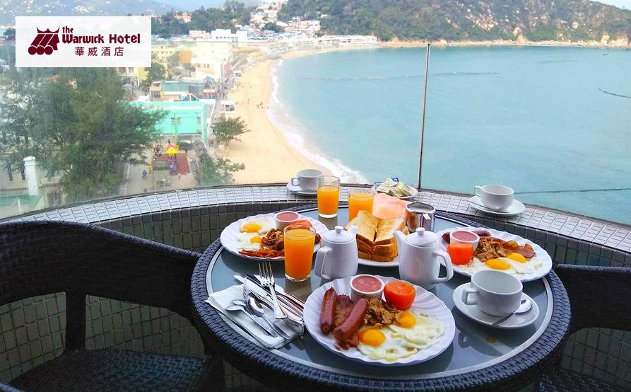 英式早餐<br>景配早餐,享受徐徐海風的吹拂,輕鬆度過一個早晨