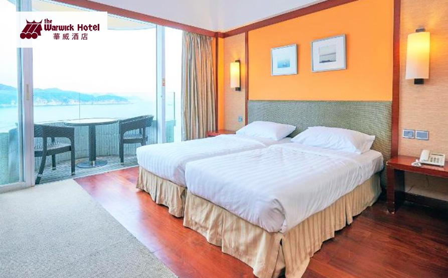海景露台雙床房<br>在房間裡便可欣賞到迷人海景和自然環境